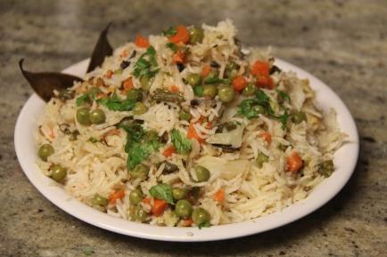 सब्ज़ी पुलाव Sabji (Veg) Pulav